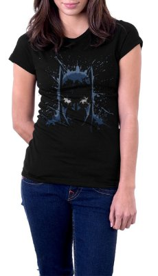 Camiseta Feminina Batman Watercolor