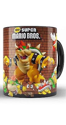 Caneca Super Mario Bros Bowser e sua turma