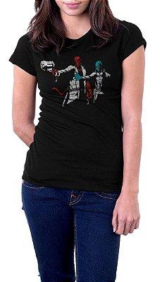 Camiseta Feminina Helboy e Abe Sapien