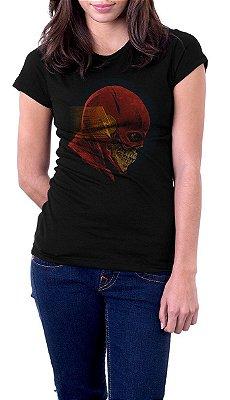 Camiseta Feminina Flash Skull