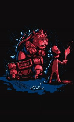 Camiseta Mario and Bowser