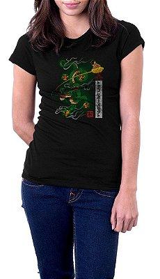 Camiseta Feminina Dragon Green