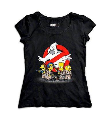 Camiseta Feminina Simpsons - Caça-Fantasmas