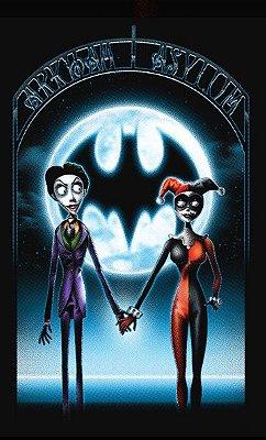 Camiseta A Noiva-Cadaver Joker e Arlequina