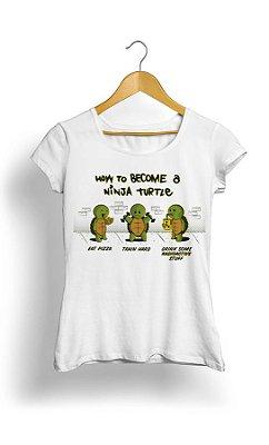 Camiseta Feminina Wow to become a Ninja Turtle