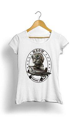 Camiseta Feminina Cat Meow