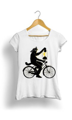 Camiseta Feminina Wolf Riding