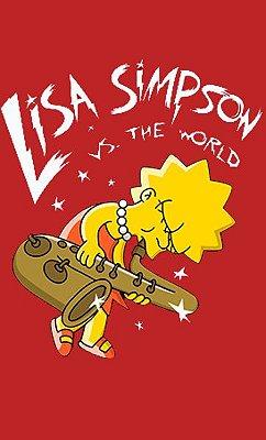 Camiseta Lisa Simpson VS The Word