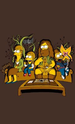 Camiseta Simpsons and Monsters