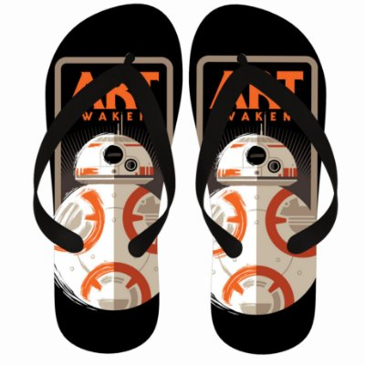 Chinelo Star Wars BB-8 Art Awakens