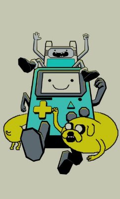 Camiseta  Adventure Time Game Boy