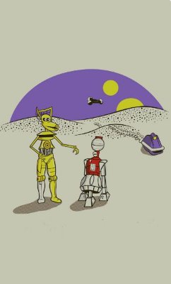 Camiseta Star Wars Robots Droids