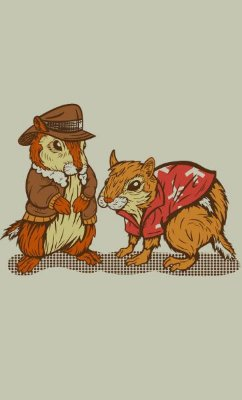Camiseta Chip 'n' Dale Rescue Rangers