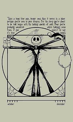 Camiseta Jack Skellington Vitruvian Man