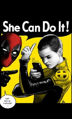 Camiseta Deadpool - She Can Do It