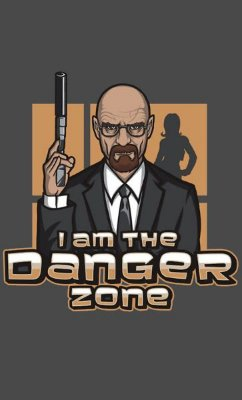 Camiseta Heisenberg I am the Danger Zone