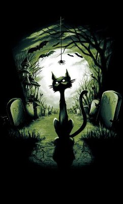 Camiseta Cat Dark R.I.P