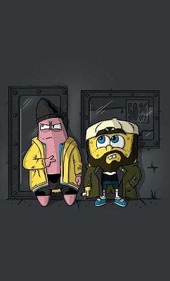 Camiseta Bob Esponja e Patrick