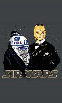 Camiseta Star Wars: R2-D2 C-3PO Sir