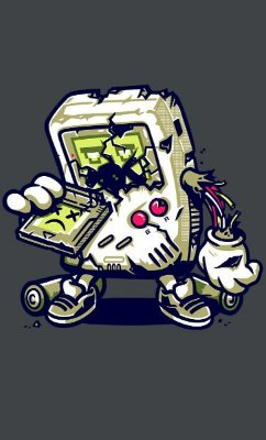 Camiseta  Game Boy Zombie