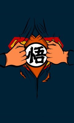 Camiseta Superman Goku