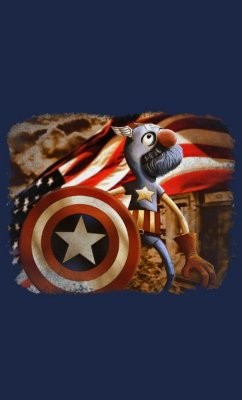 Camiseta Captain America Grover