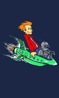 Camiseta  Futurama Calvin and Hobbes