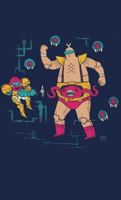Camiseta Metroid Father Brain