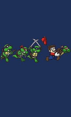 Camiseta  TMNT Super Mario Bros