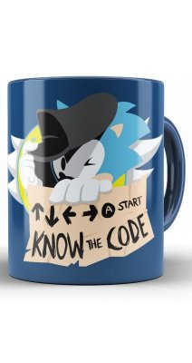 Caneca Sonic Know the Code