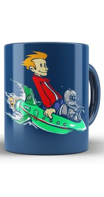 Caneca  Futurama Calvin and Hobbes