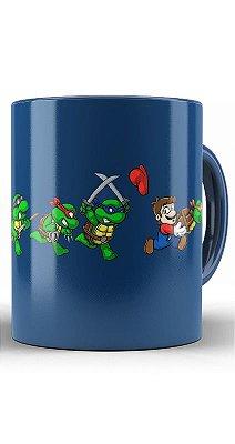Caneca  TMNT Super Mario Bros