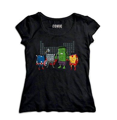Camiseta Feminina  Capitao America - Hulk e Herois