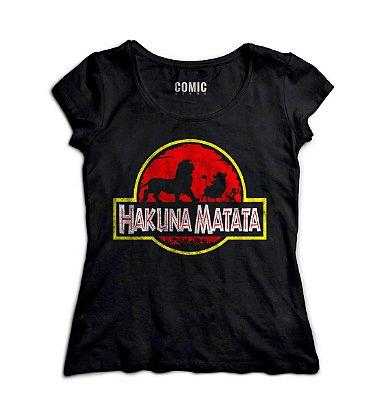 Camiseta Feminina  Kahuna Matata - O Rei Leão