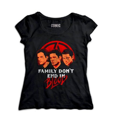 Camiseta Feminina  Sobrenatural - Family