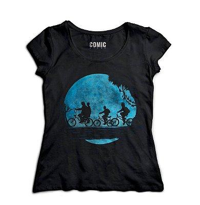 Camiseta Feminina  Stranger Things - Eleven, Dustin, Mile, Lucas