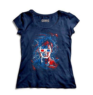Camiseta Feminina  Doctor Who Oculos 3D