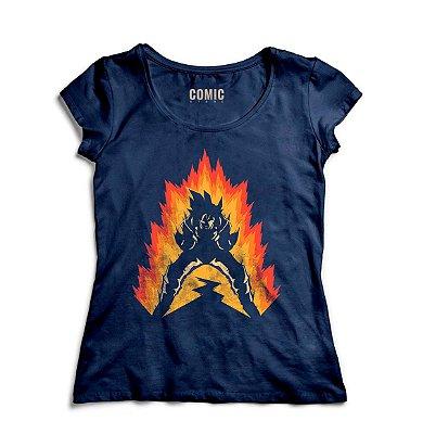 Camiseta Feminina  Dragon Ball Z Son Goku