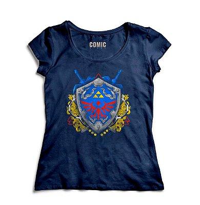 Camiseta Feminina  The Legend of Zelda - Escudo