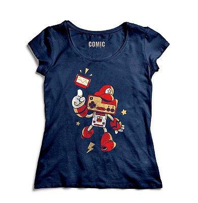 Camiseta Feminina  Super Mario Nintendo
