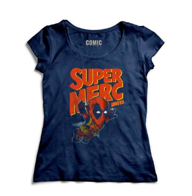 Camiseta Feminina  Deadpool - Super Merc