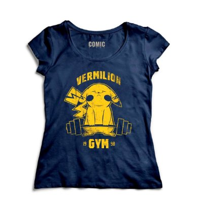 Camiseta Feminina  Pikachu GYM