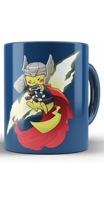 Caneca Thor Pikachu