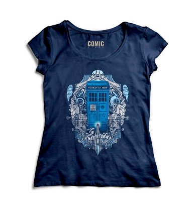 Camiseta Feminina  Doctor Who - Police Box