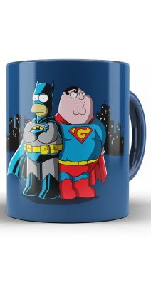 Caneca Batman e Super Man - Simpsons