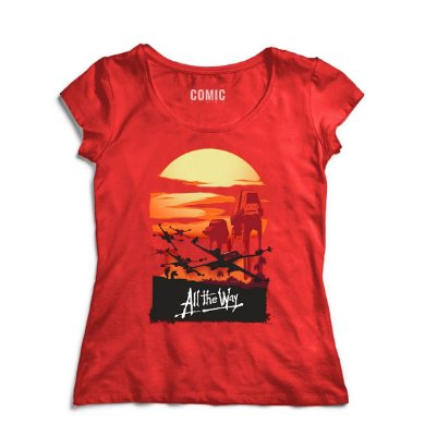 Camiseta Feminina  Star Wars - All the Way