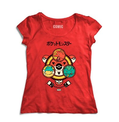 Camiseta Feminina  Pokemon Go