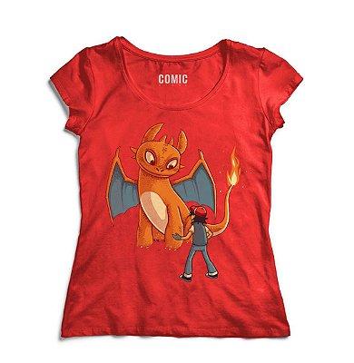 Camiseta Feminina  Ash e Banguela