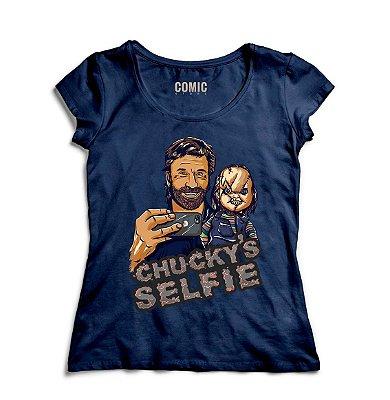 Camiseta Feminina Chucky Selfie