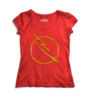 Camiseta Feminina  Simbolo Flash